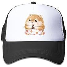 Storm Town Hats For Kids Youth Sport Caps Lovely Hamster Baseball Cap Adjustable Trucker Hat For Children Black
