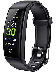 ELEGIANT Fitness Tracker, Fitness Armband Pulsmesser 0,96 Zoll Farbbildschirm Wasserdicht IP67 Smartwatch Damen Herren Schrittzähler Aktivitätstracker Pulsuhr Sportuhr Anruf SMS SNS für iOS Android