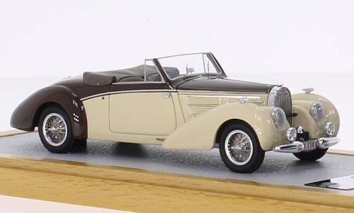 Bugatti Type 57C Aravis Letourner & Marchand, beige/braun, RHD, 1939, Modellauto, Fertigmodell, Chromes 1:43