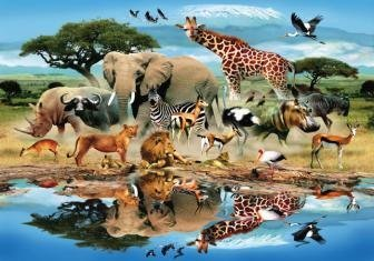 Wentworth Watering Hole 500 Piece Wooden Jigsaw Puzzle