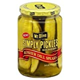 Mt. Olive Simply Pickles Kosher Dill Spears 24 oz (Pack 3)