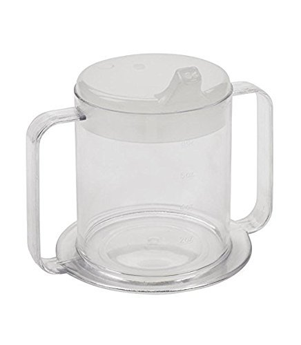 Independence 2-Handle Plastic Mug with 2 Style Lids, Lightweight Drinking Cup with Easy-to-Grasp Handles for Hot & Cold Beverages, Spill-Resistant Adult Sippy Cup, BPA Free Mug (1)