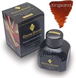 Conway Stewart Refills Kingsand Ochre Brown Bottled Ink - CS-INK-KINGSAND