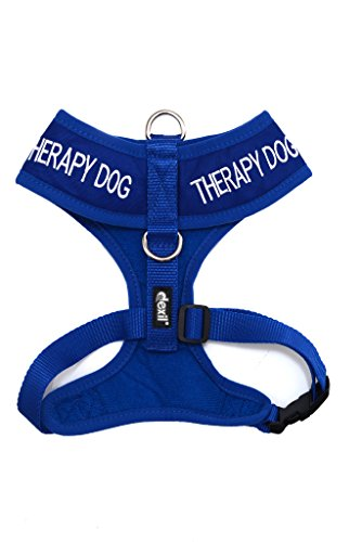Picture of Dexil Limited THERAPY DOG Blue Color Coded Non-Pull Front and Back D Ring Padded and Waterproof Vest Dog Harness PREVENTS Accidents By Warning Others Of Your Dog In Advance (XS)