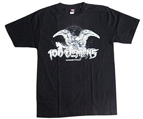 T-Shirt 100 DEMONS Connecticut Baumwolle Premium Qualität Siebdruck erhältlich in den Größen M und L