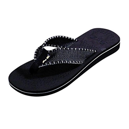 Ouneed® Herren Zehentrenner , Herren Sommer Männer Strand Schuhe Sommer Flip Flops Schuhe Sandalen Pool Männlich Slipper Zehentrenner Flip-Flops Schwarz