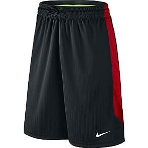 NIKE Men's Layup Shorts 2.0 Black/University Red/Black/White Shorts MD