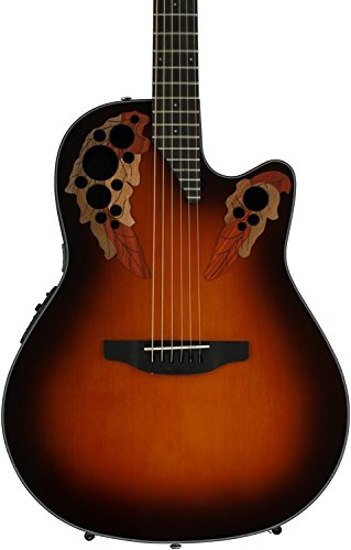 Ovation CE44-1 Acoustic-Electric Guitar, 2-Tone Sunburst