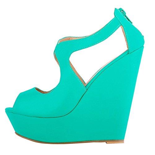 EKS - Zapatos de Tacón Mujer Light Grün-matte