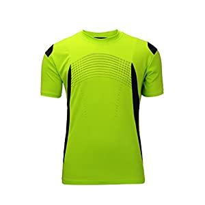 SWISSWELL Sport Shirt Men Dry Fit Athletic Tee Shirt Green Large