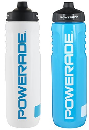 Powerade perfect squeeze water bottle 32 oz 2 Pack White/Blu