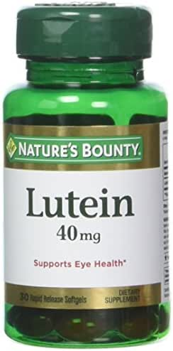 Nature's Bounty Lutein 40 Mg, 30-Count , Pack of 4