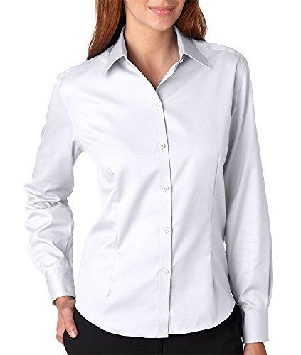 ies' Long-Sleeve Non-Iron Pinpoint (White) (XL) ()