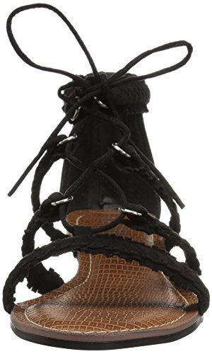 Carlos Door Carlos Santana Vrouwen Kenzie Flat Sandaal Zwart