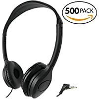 SmithOutlet 500 Pack Over the Head Low Cost Headphones in Bulk