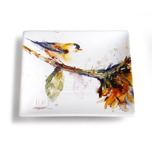 Big Sky Carvers Finch Snack Plate, Multicolor