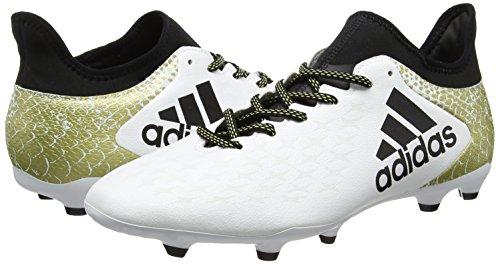 adidas X 16.3 FG, Botas de Fútbol Para Hombre Blanco (Ftwbla / Negbas / Dormet)