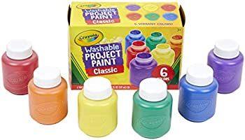 Crayola Washable 6 Count Classic Colors Kids Paint