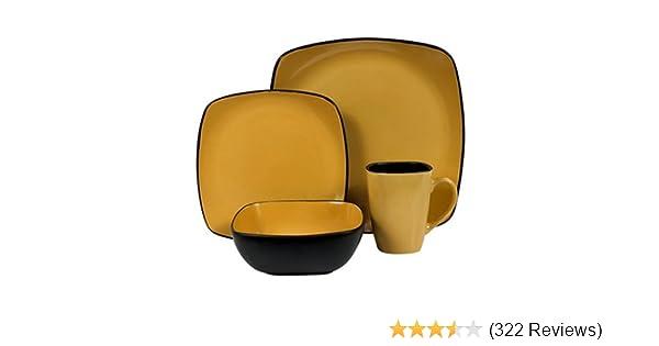Amazon.com | Corelle Hearthstone Stoneware Square 16-Piece ...