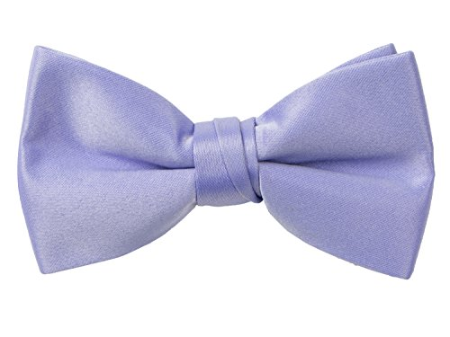 Spring Notion Boys' Pre-tied Banded Satin Bow Tie with Gift Box Medium Dusty Lavender