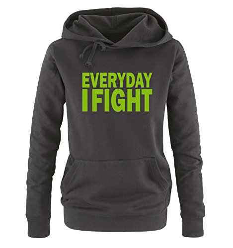 Sweater Sweater XL Taglia Comedy Comedy Comedy Everyday S Cappuccio Hoodie Donna I Colors nero verde Shirts Fight Different v0x8Fqav
