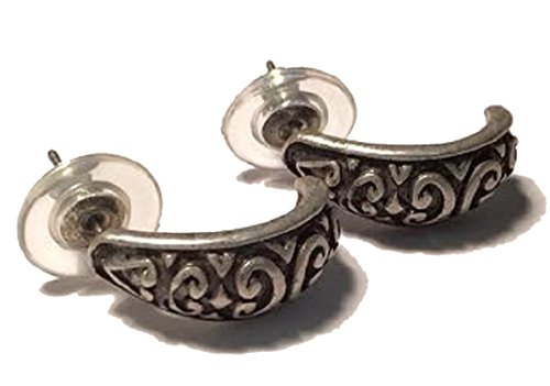 Asian Dress Up Ideas (Silver Colored Half Hoop Retro Fashion Celtic Earrings)