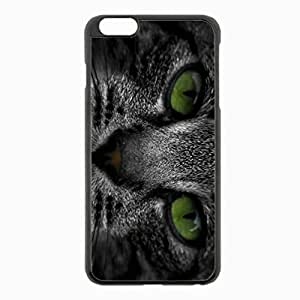 iPhone 6 Plus Black Hardshell Case 5.5inch - muzzle tabby eyes Desin Images Protector Back Cover by runtopwell