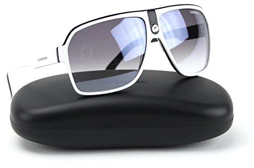 Carrera 33/S NN7 Aviator Sunglasses White Frame / Gray Mirror Shaded Lens (0NN7)
