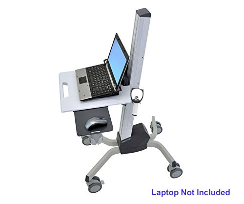 Ergotron 24-205-214 Neo-Flex Laptop Cart - Cart for notebook - plastic, aluminum, steel - two-tone gray by Ergotron (Image #1)