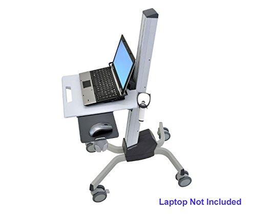 Ergotron 24-205-214 Neo-Flex Laptop Cart - Cart for notebook - plastic, aluminum, steel - two-tone gray (Computer Plastic Cart)