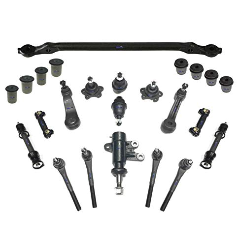 PartsW 20 Pc Suspension Kit for Chevrolet & GMC / C1500, C2500, Tahoe, Yukon/Center Link with Idler & Pitman Arms,Tie Rod Linkages & Ball Joints, Adjusting Sleeves, Idler Arm Assembly