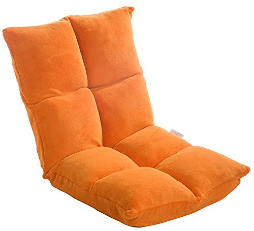 Merax Fully Adjustable Five Position Multiangle Floor Lazy Man Chair Sofa  Video Gaming Chair (Orange)
