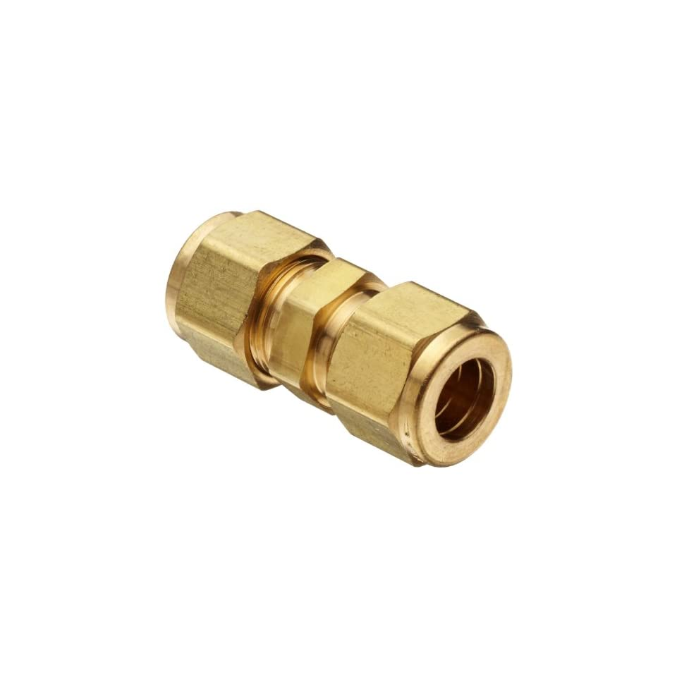 Parker A Lok 8SC8 B Brass Compression Tube Fitting, Union, 1/2 Tube OD