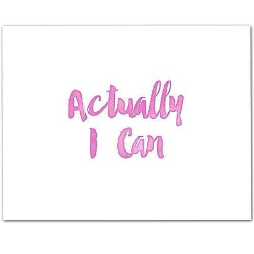 Actually I Can - 11x14 Unframed Typography Art Print - Great Nursery or Child's Room Decor from Personalized Signs by Lone Star Art