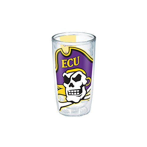 Tervis 1191625 East Carolina University Pirate Colossal Wrap Individual Tumbler, 16 oz, Clear