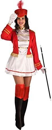 El Rey del Carnaval Disfraz de Majorette Roja para Mujer: Amazon ...