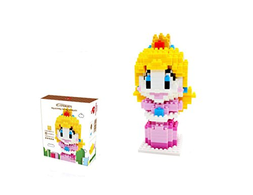 CHAKRA Game Super Mario Peach Princess DIY Diamond Mini Building Nano Block Toy(420) -