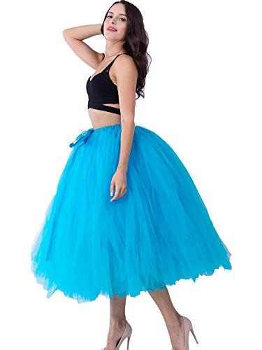 Blue Rock Lange Fotografie Tutu Christmas Für 80cm Hochzeit Dorchid Kostüm Frauen Tüll Erwachsene Overrock Party