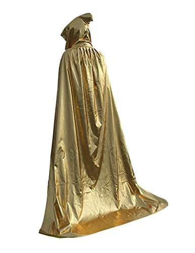Costumes For Haloween - TOKYO-H Halloween Grim Reaper Costume Hooded Robe Cloak Witch Cosplay (Gold)