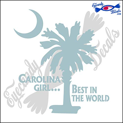 Eyecandy Decals SOUTH CAROLINA PALMETTO AND MOON WITH CAROLINA GIRL BEST IN THE WORLD 6