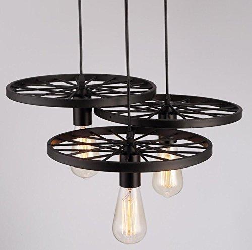 (GL&G American Retro Industrial Chandelier, for Living Room Hallway Studio Bar Restaurant Lights Decorative Iron Lights Lighting(No light source),3)