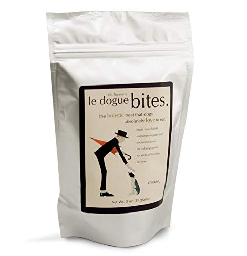 Dr. Harvey's Le Dogue Bites - Freeze-Dried Single Ingredient Treats for Dogs, Chicken (3 Ounces)