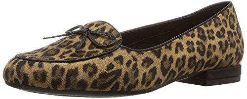 Aerosoles Women's Feel Good Slip-on Loafer, Leopard Tan, 8 M US