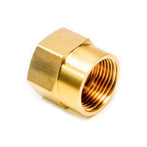 "Joywayus 1/2"" G Thread Female × 3/4"" NPT Thread Female Brass Pipe Fitting Adapter"