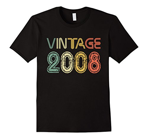 Vintage 2008 10 Years Old Gift Birthday T-Shirts