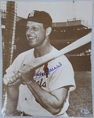 Stan Musial Signed Photo - Stan Musial Signed Photo - 11x14 Beckett BAS #H44539 - Beckett Authentication - Autographed MLB Photos