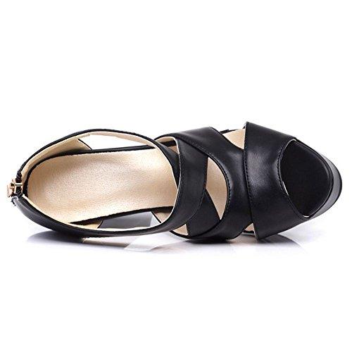 Donna Piattaforma 3 Sandali Mode Zanpa Black Hfqwz6dFnx