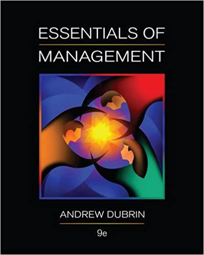 Essentials of management 9th edition andrew j dubrin essentials of management 9th edition 9th edition fandeluxe Image collections
