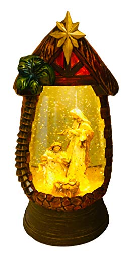 Snowglobe Scene Nativity (SPARKS Christmas Nativity Set Holy Family Christmas Nativity Scene Religious Christmas Snow Globe Glitter-Dome - Tabletop Holiday Decoration)