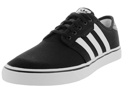 Casual Stripe Sneakers (adidas Originals Men's Seeley Skate Shoe,Black/White/Gum,12 M US)